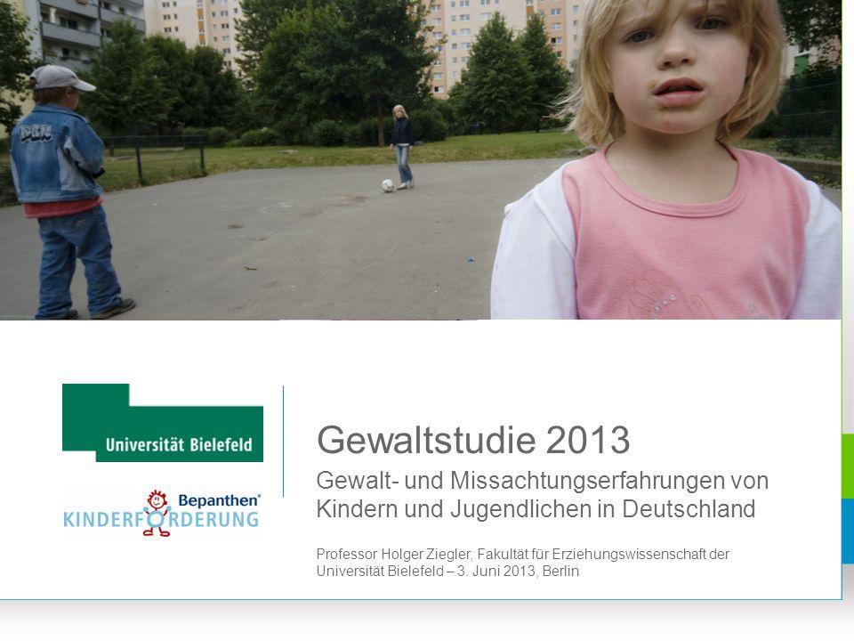 Gewaltstudie 2013 Gewalt- und Missachtungserfahrungen von Kindern und Jugendlichen in Deutschland.