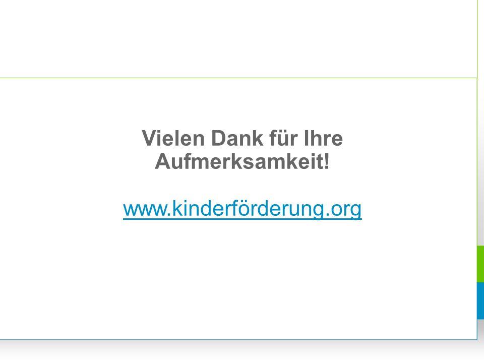 Vielen Dank für Ihre Aufmerksamkeit! www.kinderförderung.org