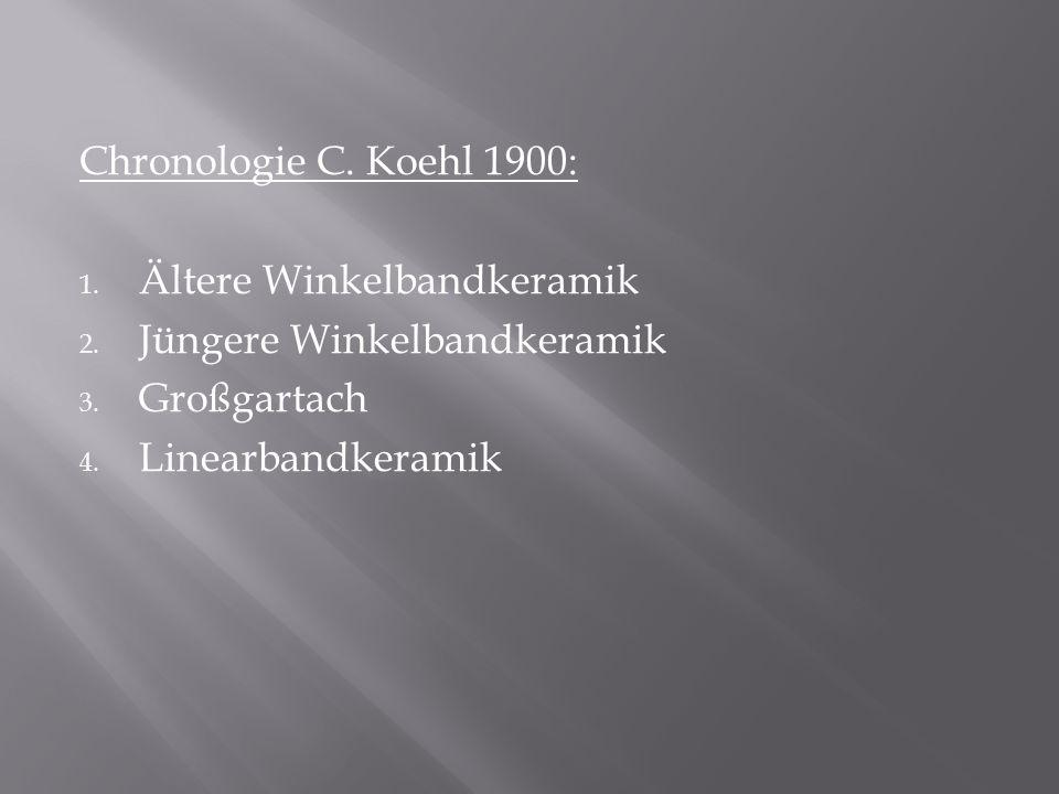 Chronologie C. Koehl 1900: Ältere Winkelbandkeramik.