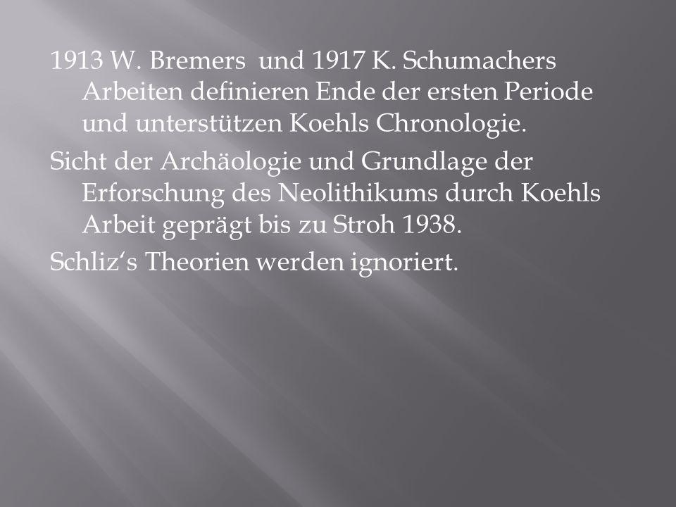 1913 W. Bremers und 1917 K.