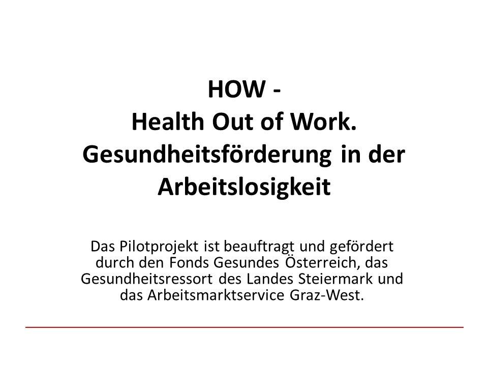 HOW - Health Out of Work. Gesundheitsförderung in der Arbeitslosigkeit