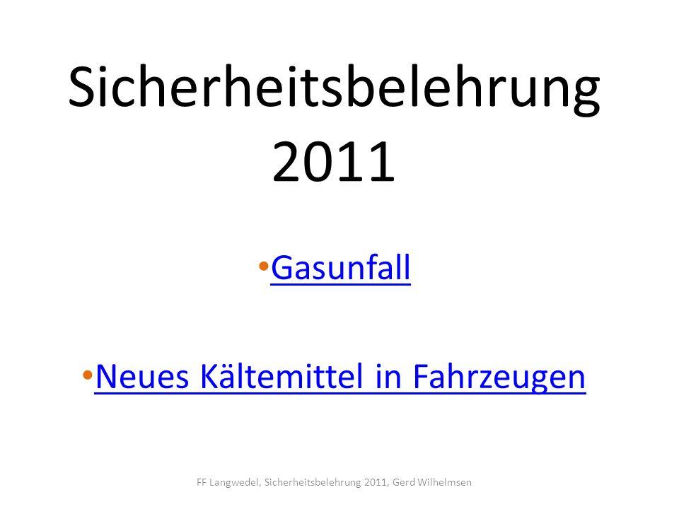 Sicherheitsbelehrung 2011