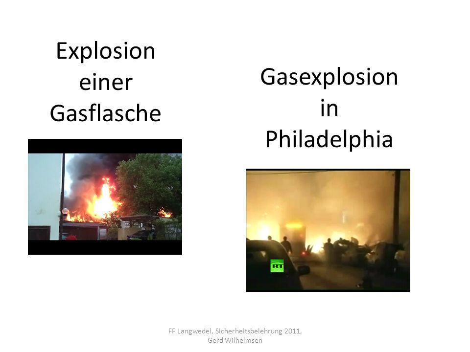 Explosion einer Gasflasche