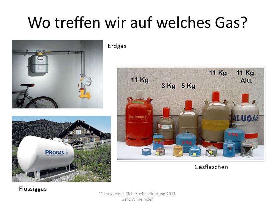 Wo treffen wir auf welches Gas