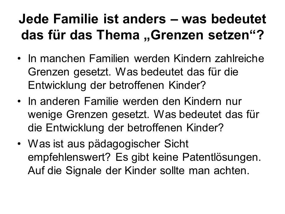 """Jede Familie ist anders – was bedeutet das für das Thema """"Grenzen setzen"""