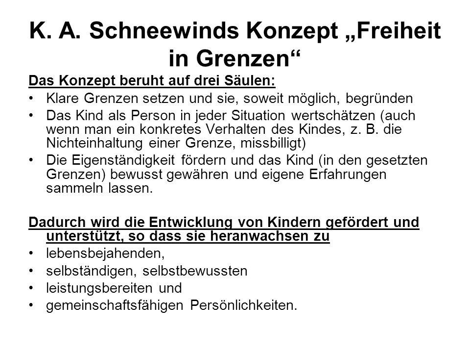 """K. A. Schneewinds Konzept """"Freiheit in Grenzen"""