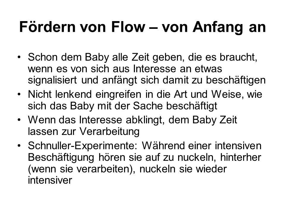 Fördern von Flow – von Anfang an