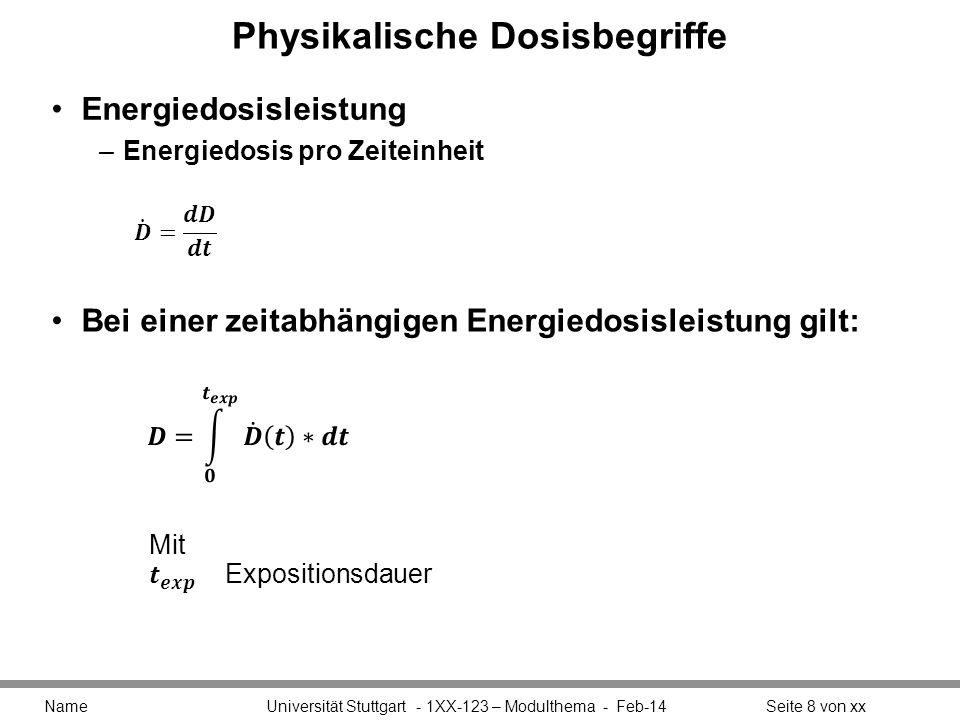 Physikalische Dosisbegriffe