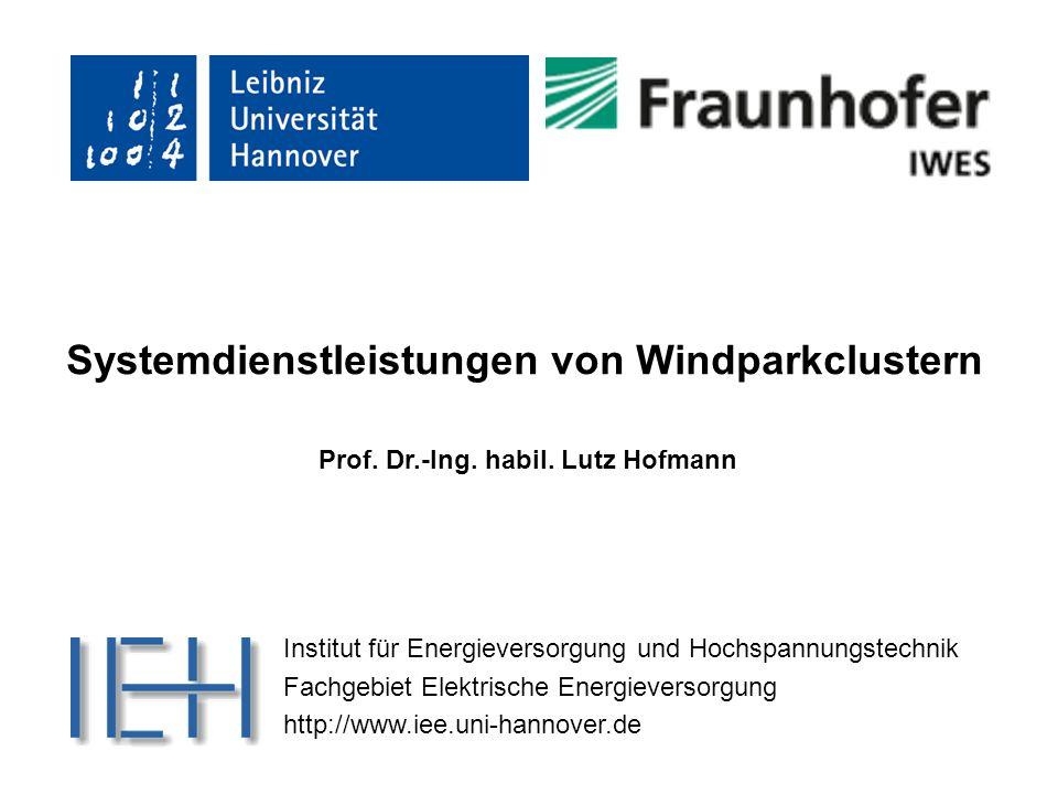 Systemdienstleistungen von Windparkclustern