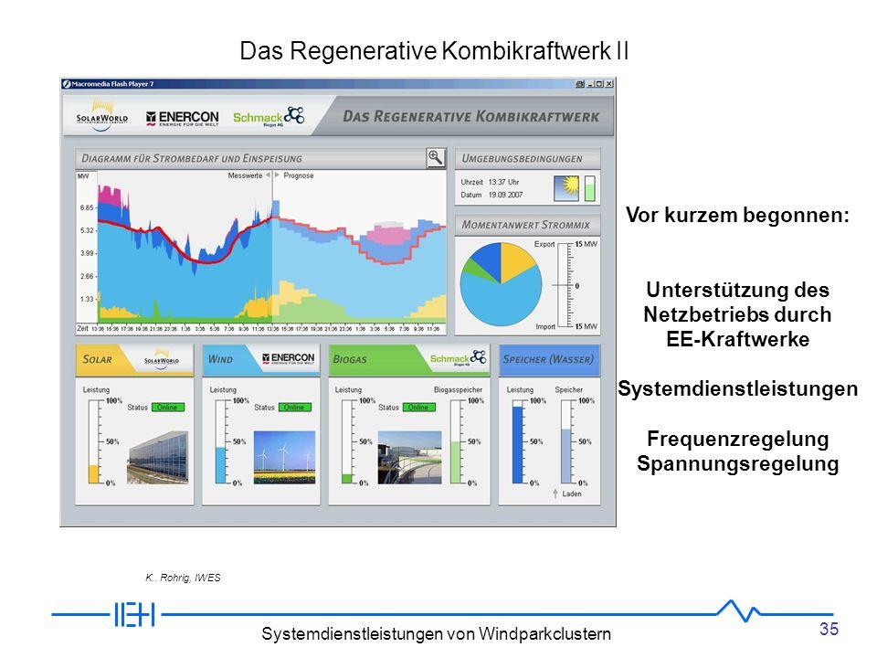 Das Regenerative Kombikraftwerk II