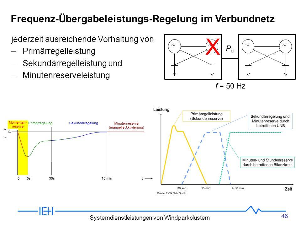 X Frequenz-Übergabeleistungs-Regelung im Verbundnetz
