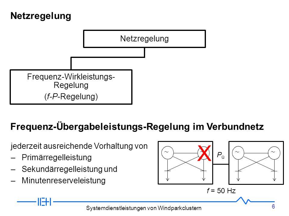 X Netzregelung Frequenz-Übergabeleistungs-Regelung im Verbundnetz