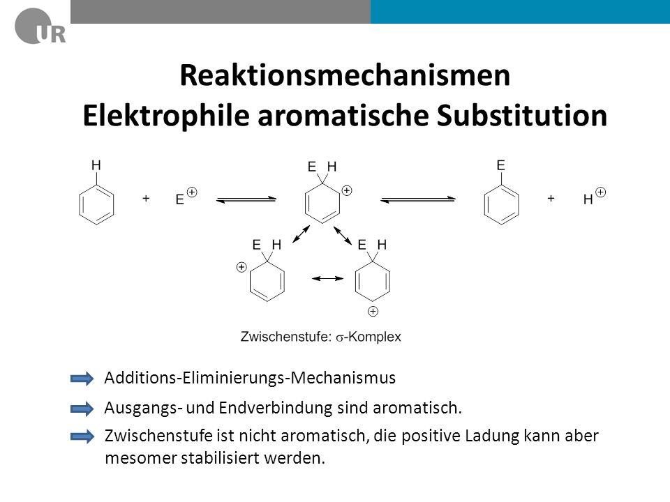 Reaktionsmechanismen Elektrophile aromatische Substitution