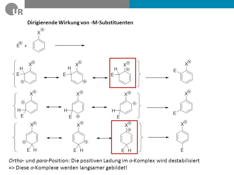 Dirigierende Wirkung von -M-Substituenten