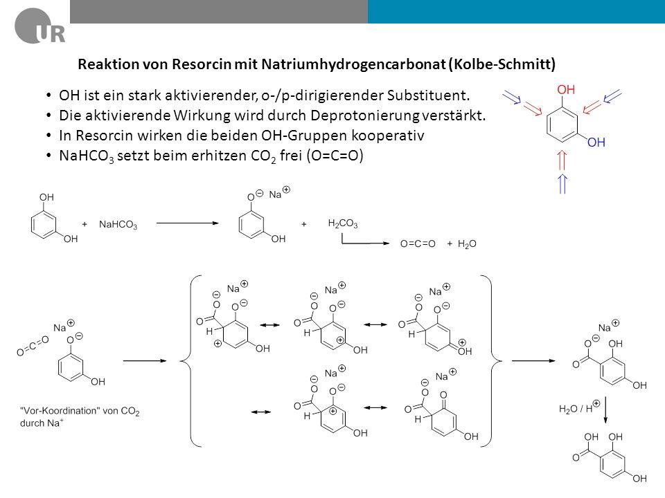 Reaktion von Resorcin mit Natriumhydrogencarbonat (Kolbe-Schmitt)