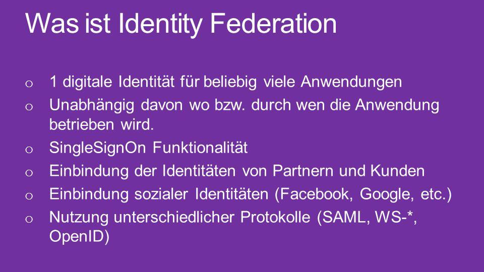 Was ist Identity Federation