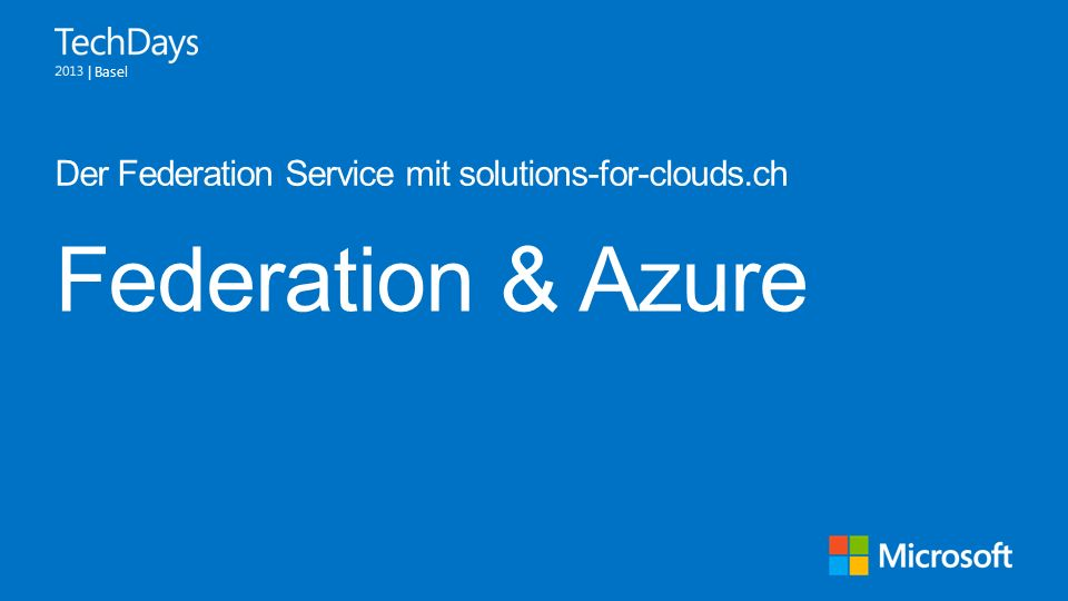 Der Federation Service mit solutions-for-clouds.ch