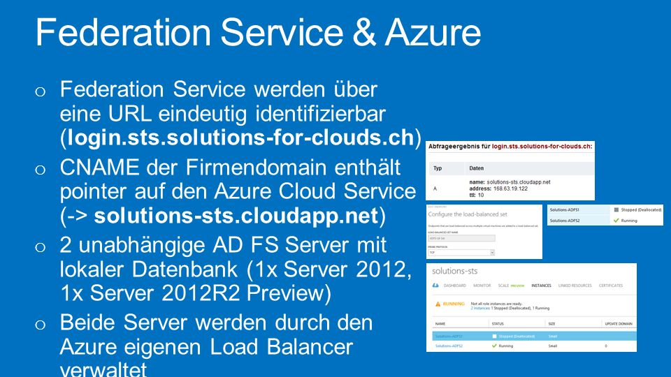 Federation Service & Azure