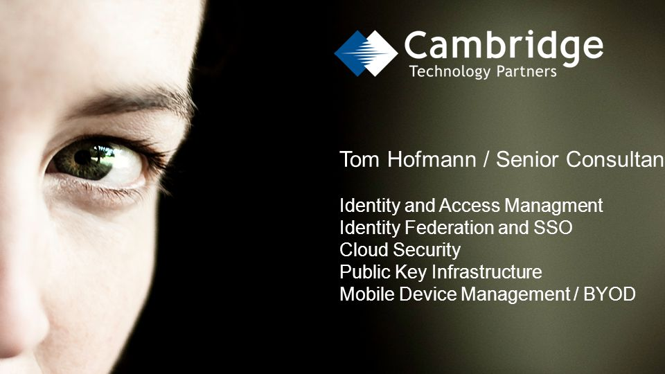Tom Hofmann / Senior Consultant