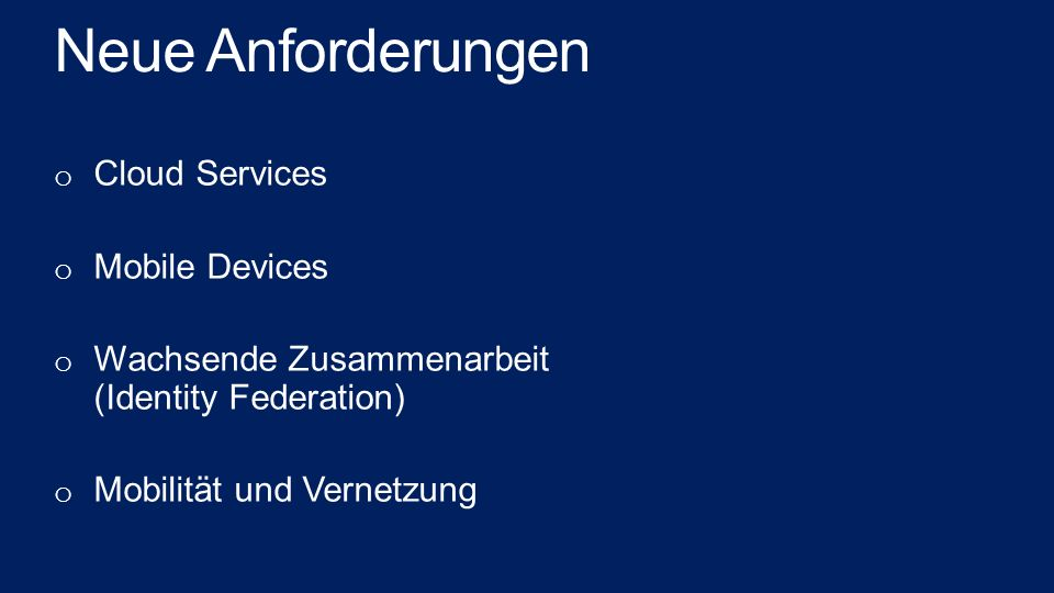 Neue Anforderungen Cloud Services Mobile Devices