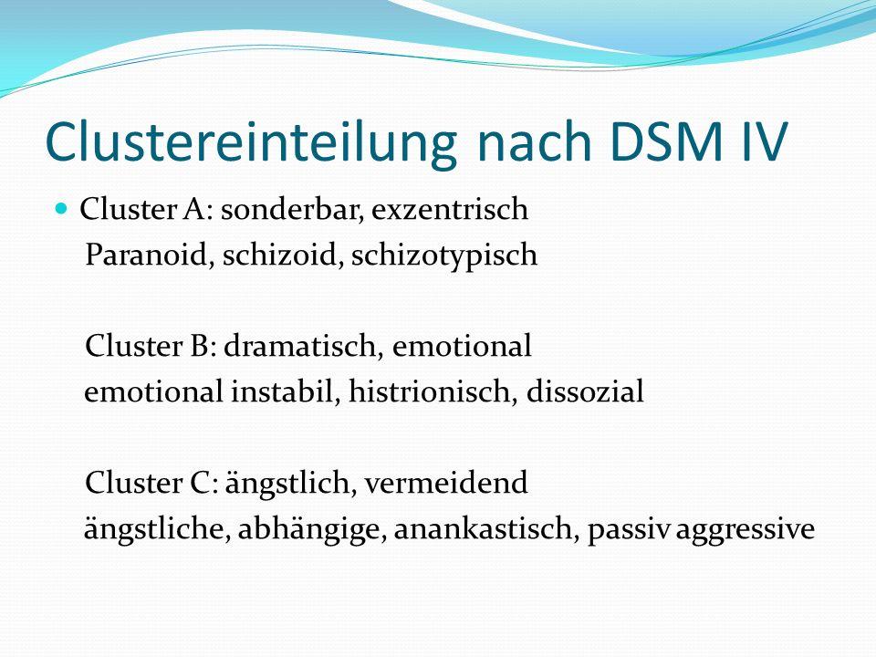 Clustereinteilung nach DSM IV