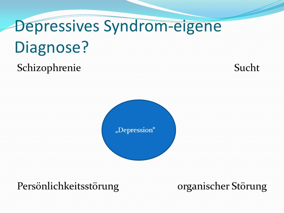 Depressives Syndrom-eigene Diagnose