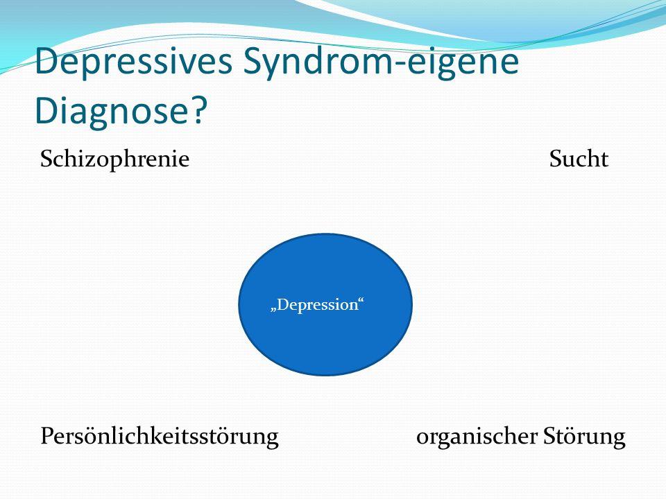 Depressives Syndrom-eigene Diagnose