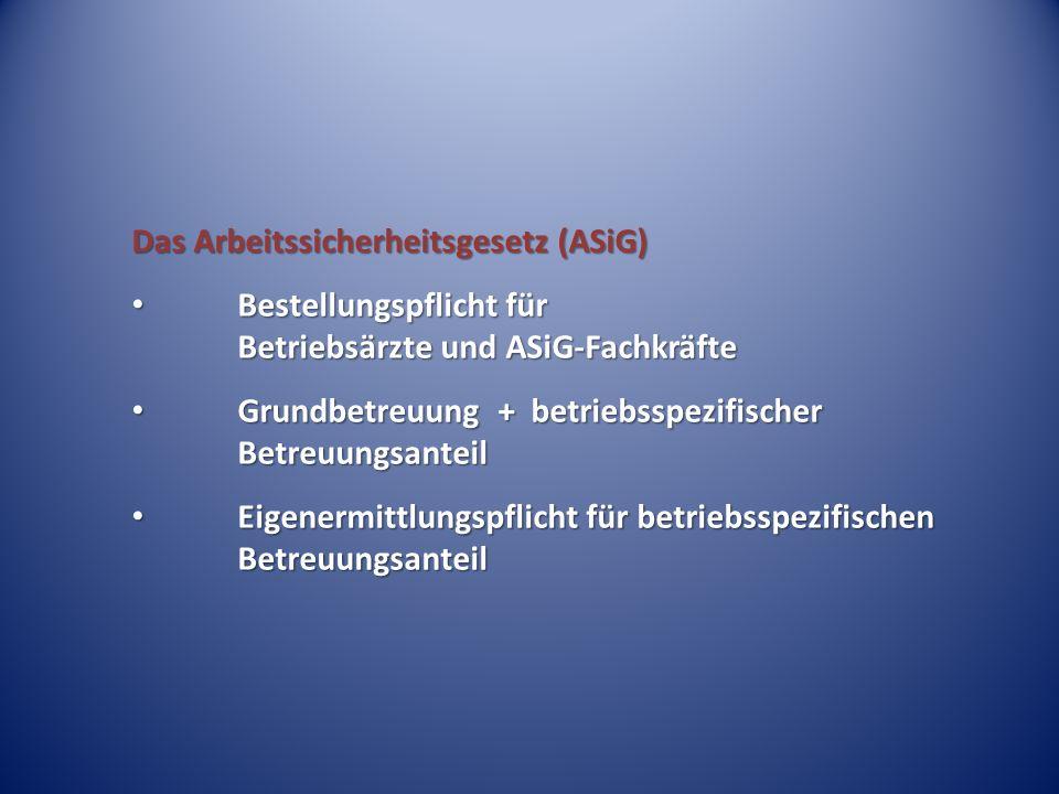 Das Arbeitssicherheitsgesetz (ASiG)
