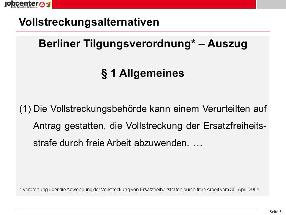 Berliner Tilgungsverordnung* – Auszug