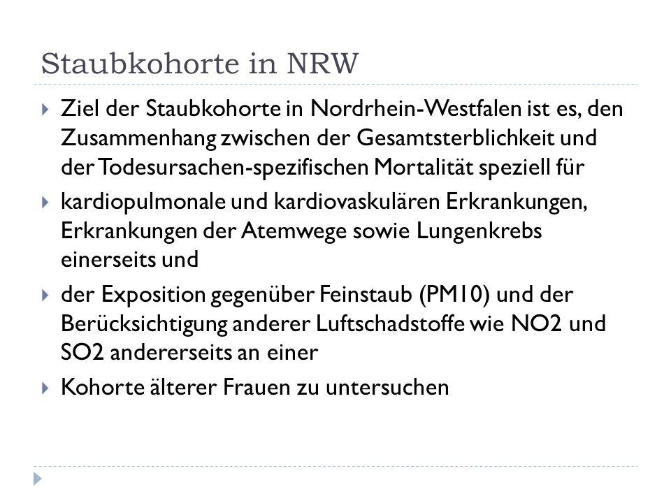Staubkohorte in NRW