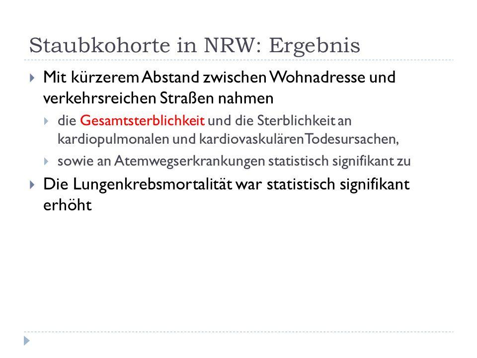 Staubkohorte in NRW: Ergebnis