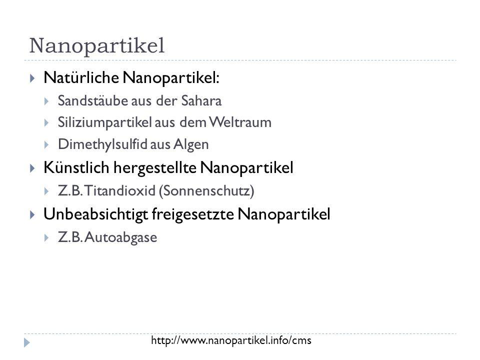 Nanopartikel Natürliche Nanopartikel: