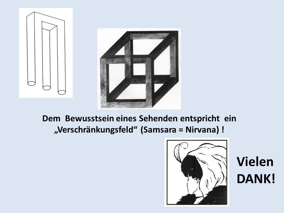 """Dem Bewusstsein eines Sehenden entspricht ein """"Verschränkungsfeld (Samsara = Nirvana) !"""