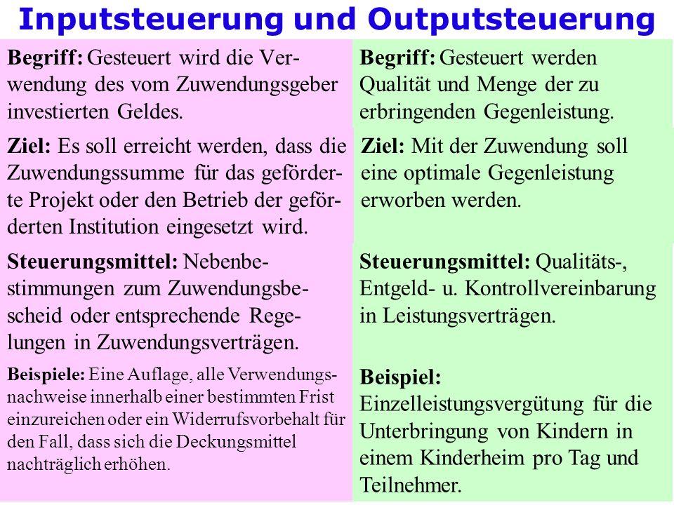 Inputsteuerung und Outputsteuerung