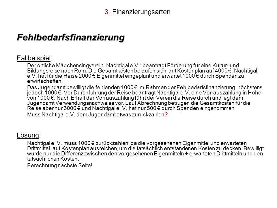 Fehlbedarfsfinanzierung