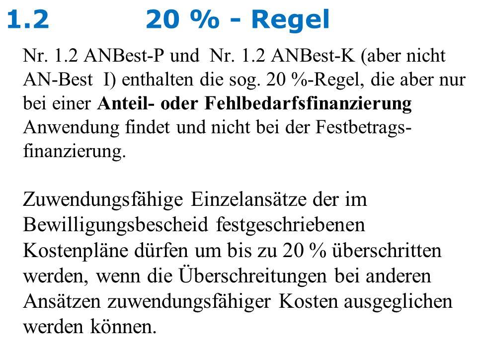 1.2 20 % - Regel