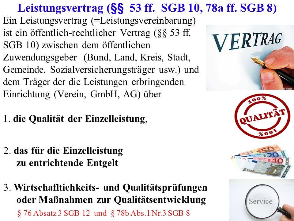 Leistungsvertrag (§§ 53 ff. SGB 10, 78a ff. SGB 8)