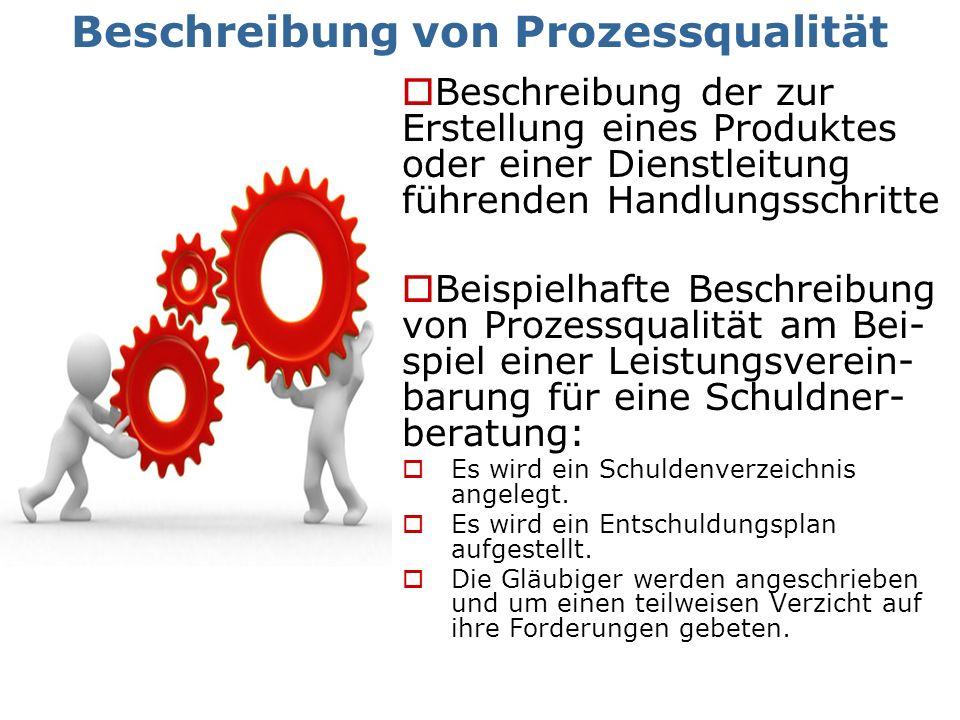 Beschreibung von Prozessqualität