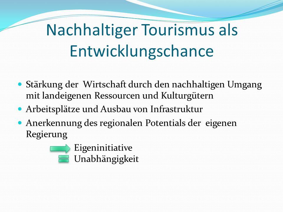 Nachhaltiger Tourismus als Entwicklungschance