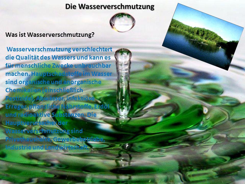 Die Wasserverschmutzung