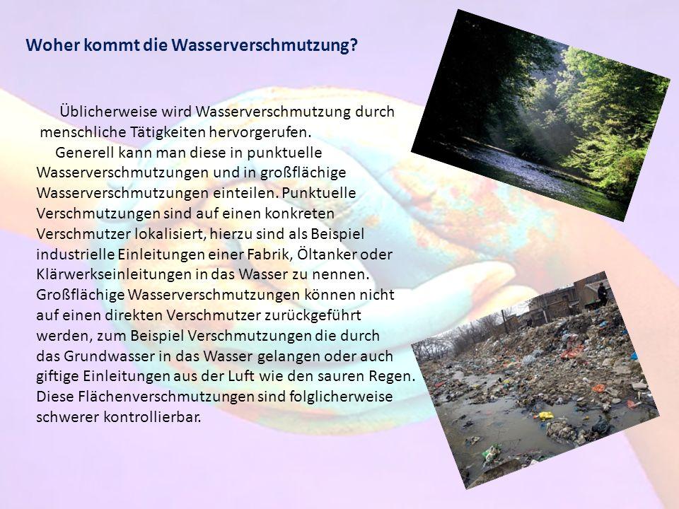Woher kommt die Wasserverschmutzung