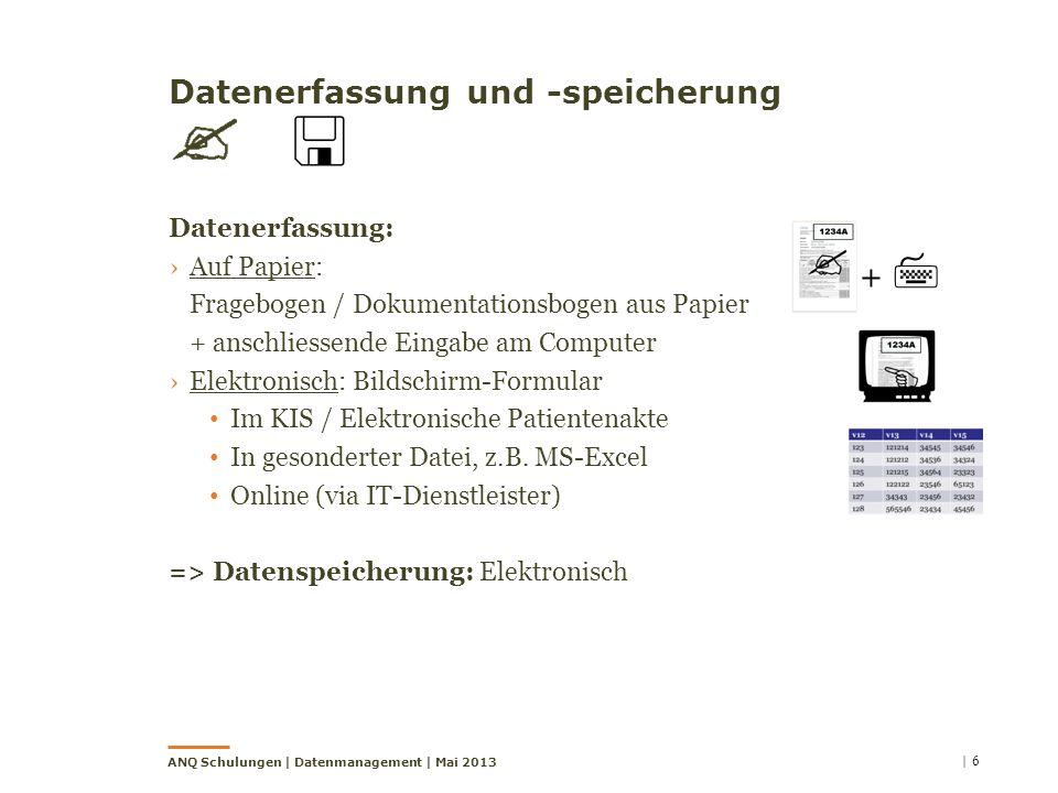 Datenerfassung und -speicherung