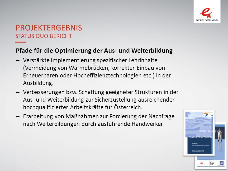 Projektergebnis Status Quo Bericht