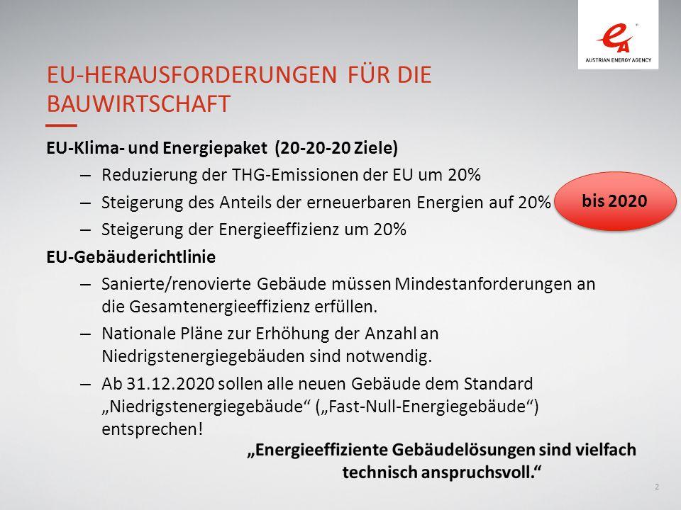 EU-Herausforderungen für die Bauwirtschaft