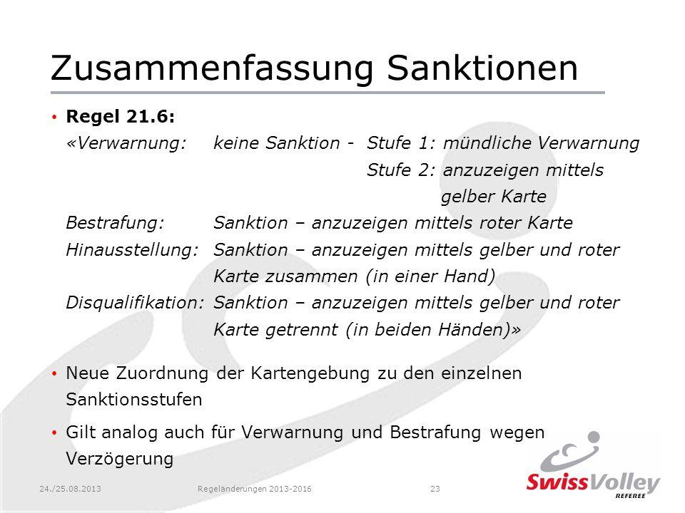 Zusammenfassung Sanktionen