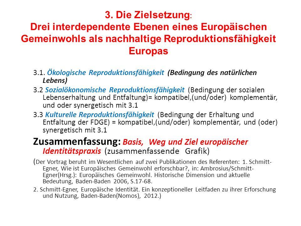 3. Die Zielsetzung: Drei interdependente Ebenen eines Europäischen Gemeinwohls als nachhaltige Reproduktionsfähigkeit Europas