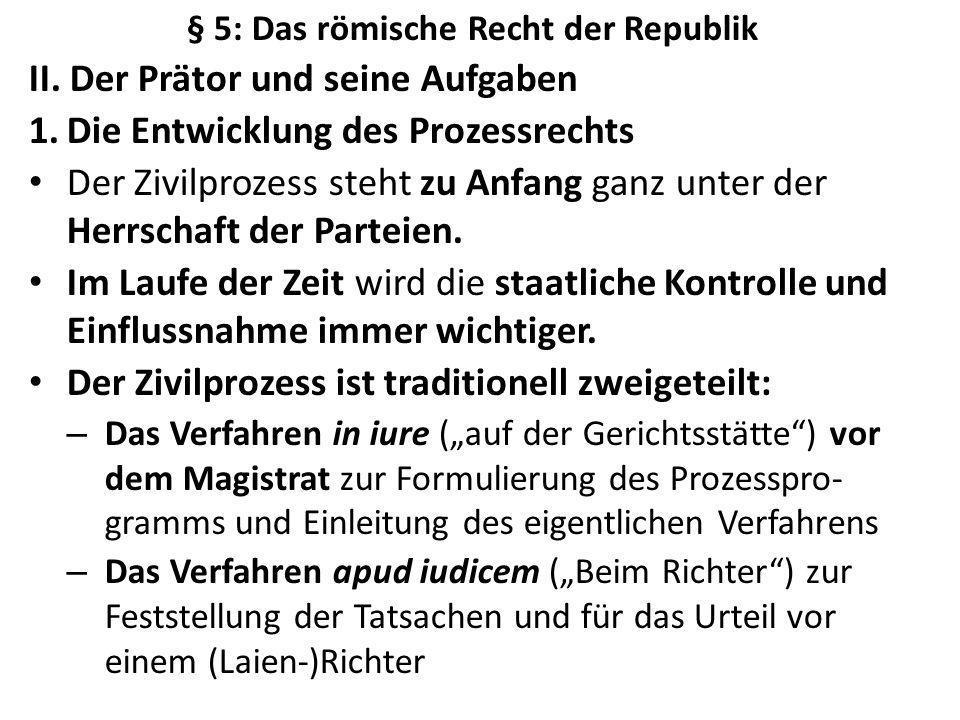 § 5: Das römische Recht der Republik