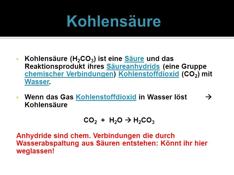 Kohlensäure
