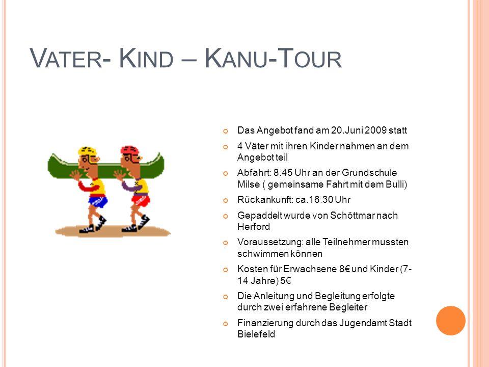 Vater- Kind – Kanu-Tour