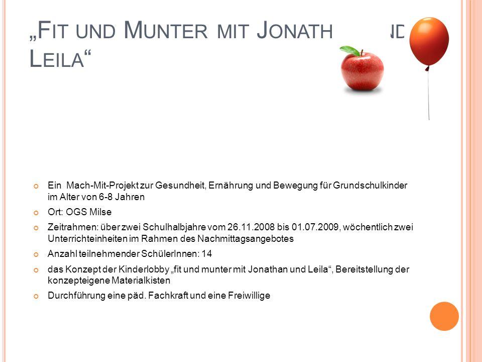 """""""Fit und Munter mit Jonathan und Leila"""